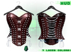 :{F.A.D.}: Briar Leather Studded Corset Blood