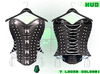 :{F.A.D.}: Briar Leather Studded Corset Grey