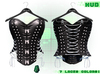 :{F.A.D.}: Briar Leather Studded Corset Black