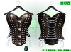 :{F.A.D.}: Briar Leather Studded Corset Oil