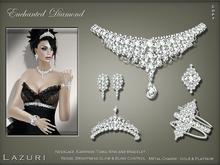 [< Lazuri >] Enchanted Diamond Necklace Set - SALE