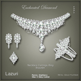 [< Lazuri >]  Enchanted Diamond Necklace Set - Gold and Silver - SALE