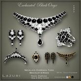 [< Lazuri >] Enchanted Black Onyx Jewelry Set - SALE