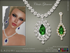 [< Lazuri >]  Classic Glamour Necklace Earrings Color Change  - SALE
