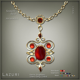 [< Lazuri >] Shahy Necklace Style 1 - Red - SALE