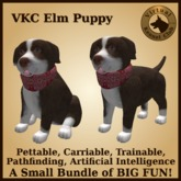 VKC Elm Puppy (Mixed Breed) - Artificially Intelligent (AI) Pathfinding Trainable Dog - No Food Required