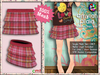 [SKM] Amyiah Plaid Layered Mini Skirt MESH