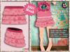 [SKM] Cloudy Pink Layered Mini Skirt MESH