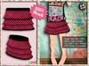 [SKM] Kaysha Checkmate Layered Mini Skirt MESH