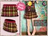 [SKM] Fore Plaid Layered Mini Skirt MESH