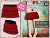[SKM] Nisaa Dots Layered Mini Skirt MESH