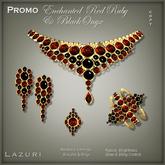 [< Lazuri >]  PROMO Enchanted RedRuby and Black Onyx - Gold