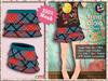 [SKM] Trina Plaid Layered Mini Skirt MESH