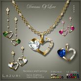 [< Lazuri >] Dreams Of Love - Necklace/Earrings - Color Change - SALE