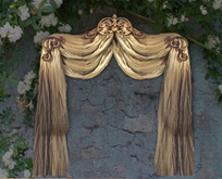 NB curtain drapes tenda white beige