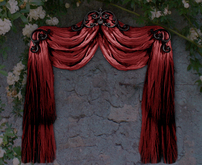 NB curtain drapes tenda red