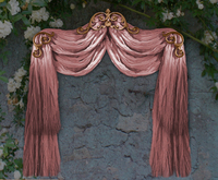 NB curtain drapes tenda pink