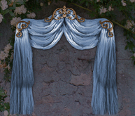 NB curtain drapes tenda blue