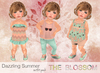 .The Blossom. Dazzling Summer outfit pack Toddleedoo avatars only