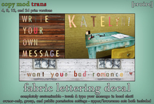 [croire] Fabric Lettering Wall Decal System (Customizable! Write your own message - 69 different characters & patterns!)