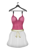 [croire] Indie Hipster Zooey Dress (candy) (cutout heart back, sculpted skirt, alpha layer, belt color option)