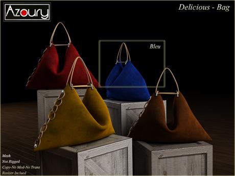 AZOURY - Delicious Bag Blue