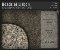 :Fanatik Architecture: Roads of LISBON - mesh cobblestone street building kit with materials