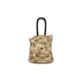 [croire] Vintage Floral Tote Bag - Indie Hipster Accessories  (cotton candy) (3 handle/button colors included, 2 poses)