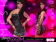VaVaVOOM ! - Micro Mini > Leather Cheetah *MESH*