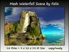 Mesh Waterfall Scene by Felix 18 prim=9x12x13m copy-mody