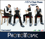 ~{PhotoTonic}~ - .Male Chair Poses *SET*