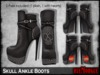 Mp skull ankle boots