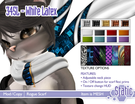 ::Static:: Rogue Scarf - White Latex