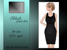 PROMO Lumiere Black Pencil Dress