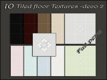 Pack 10 tiled floor textures deco2