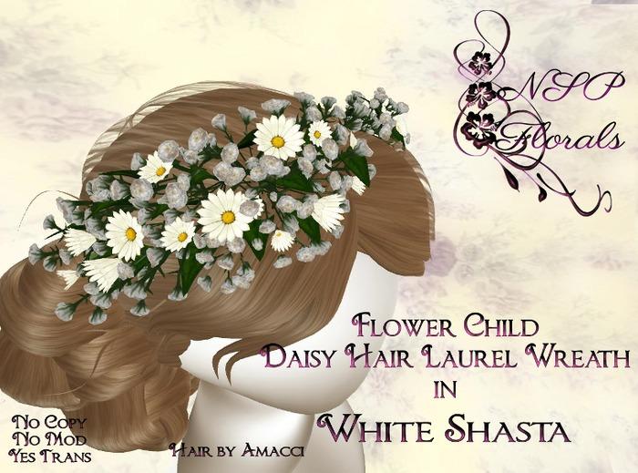 NSP Flower Child Daisy Hair Wreath White S boxed