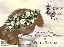 NSP Flower Child Daisy Hair Wreath White S boxed