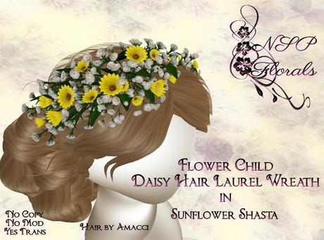 NSP Flower Child Hair Wreath Sunflower S boxed