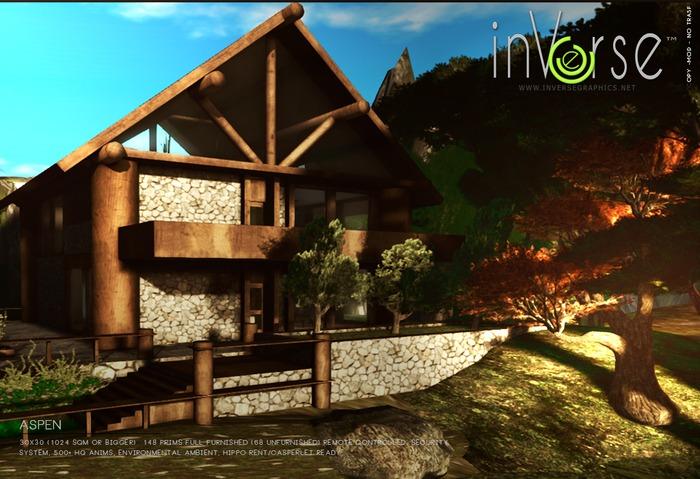 nVerse® MESH- Aspen - full furnished  house cottage  500+ anims