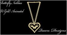 Butterfly Necklace Gold V2 Animated