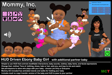 *Mommy Inc* HUD-Driven Highly Detailed Ebony Prim Baby Girl v2.4.2