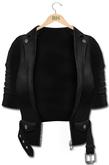 !Rebel Hope - Kyndal Mesh Leather Jacket Jet