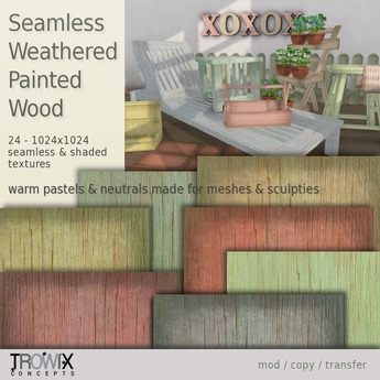 Trowix - Weathered Painted Wood Textures