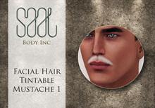 .::SAAL::. FACIAL HAIR TINTABLE  MUSTACHE 1