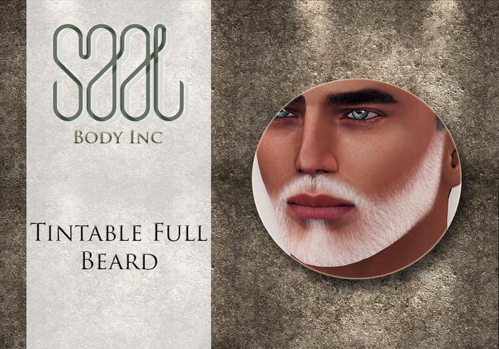 .::SAAL::. FACIAL HAIR TINTABLE  FULL BEARD