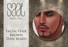 .::SAAL::. FACIAL HAIR BROWN THIN BEARD