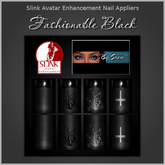 ~*By Snow*~ Slink Nails Appliers - Fashionable Black