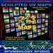 """Sculpted UV Map *Amazing Huge Set*  """"Over 200 Maps"""" Not your Ordinary Sculpty Maps"""