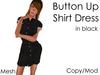 Delia's Black Shirt Dress