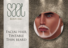 .::SAAL::. FACIAL HAIR TINTABLE  THIN BEARD